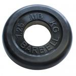 Диск обрезиненный черного цвета, 50 мм, 1,25 кг